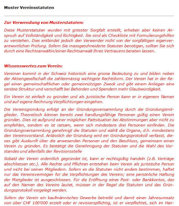 muster statuten verein vereinssatzung leciht gemacht - Muster Vereinssatzung